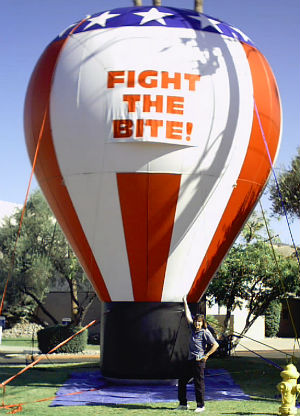 advertising inflatables - 25 ft. hot-air balloon shape advertising inflatable