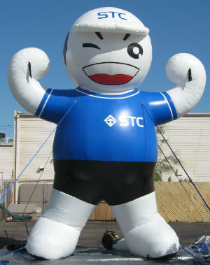 STC Boy advertising inflatable - custom made for client!