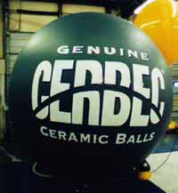 advertising balloon sphere with logo