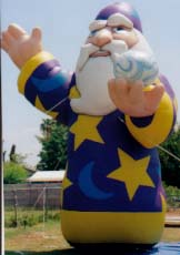 Wizard advertising inflatables made in USA.