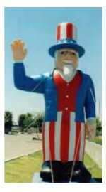 Uncle Sam Balloon - Uncle Sam inflatables for events,parades and sales. Rent or Buy!