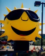 Sun advertising inflatables - giant balloons made in the USA.